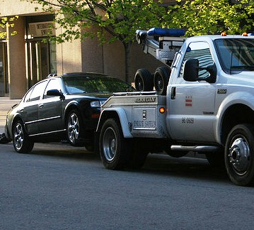 Towing Cars in the Name of Security by @mjb on Flickr