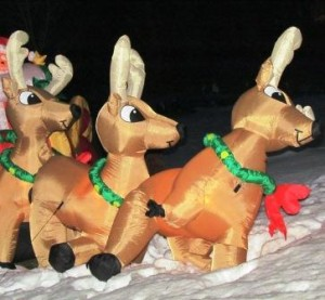 Three Reindeer Rule Saves a Nativity Scene