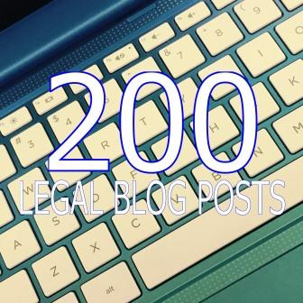 200 Legal Blog Posts
