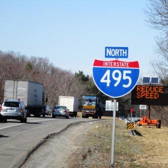 Route 495 in MA Accidents